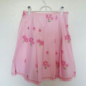 New Cynthia Steffe skirt pink embroider size 4